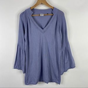 Cabi Sweater Cassidy V Neck Periwinkle Bell Sleeve